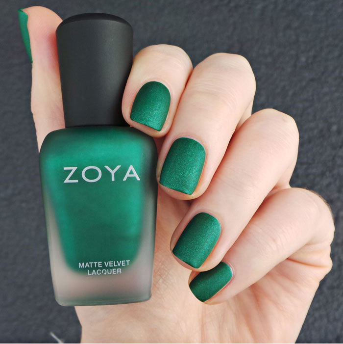 包邮 美国 正品 ZOYA 指甲油 丝绒亚光磨砂 zp819 显白 翠绿色