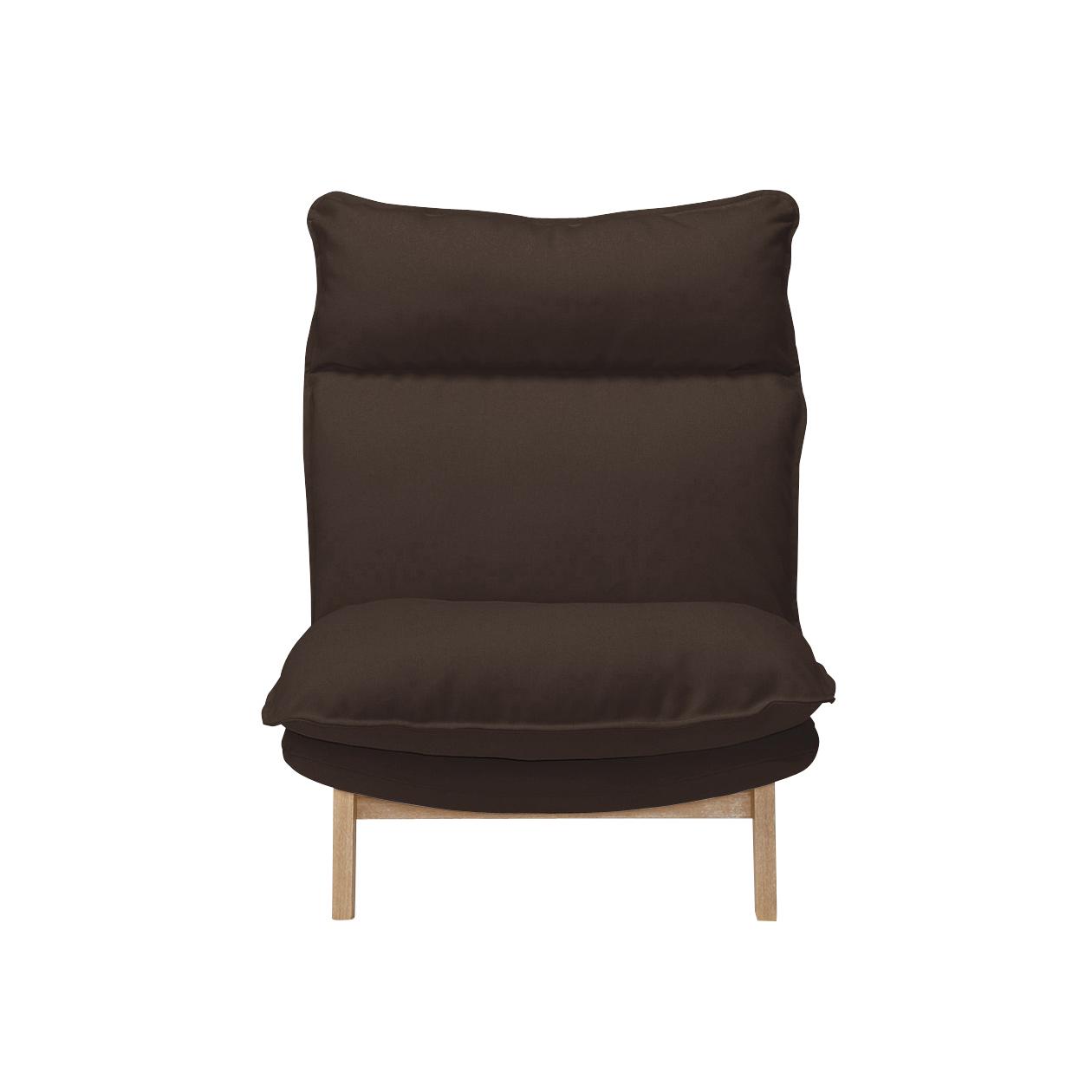 MUJI высокая Лежащий диван с спинкой и миддотом, 1 & middot; Полиэфирная прослойка / коричневый