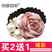 Colorful grid (accessory) Korea hair accessories hair looped rope band jewelry flower hair band hairpin hair clip