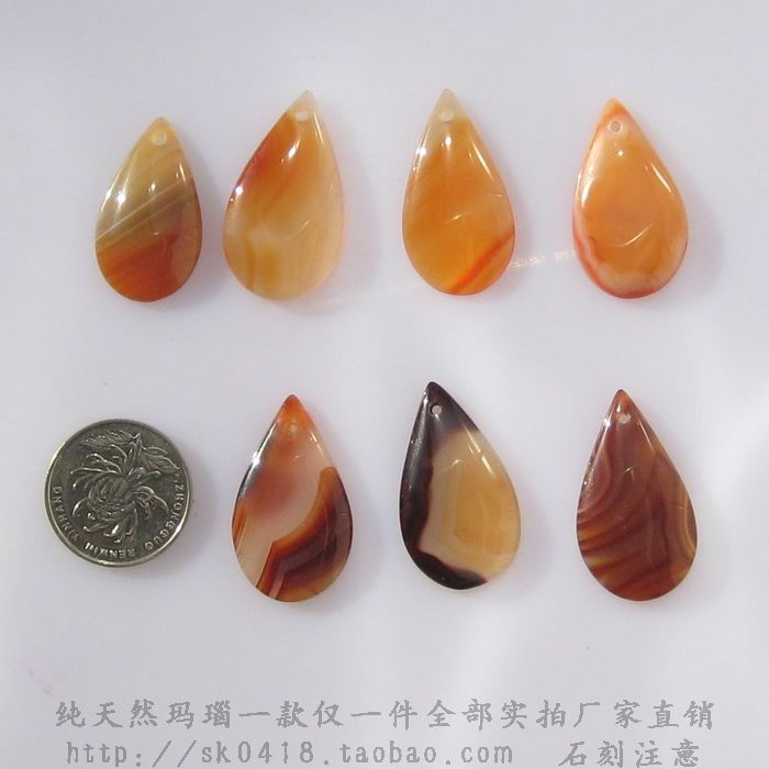 D2 pure natural jade water drop Agate Pendant ethnic style womens Necklace Pendant DIY semi finished product wholesale
