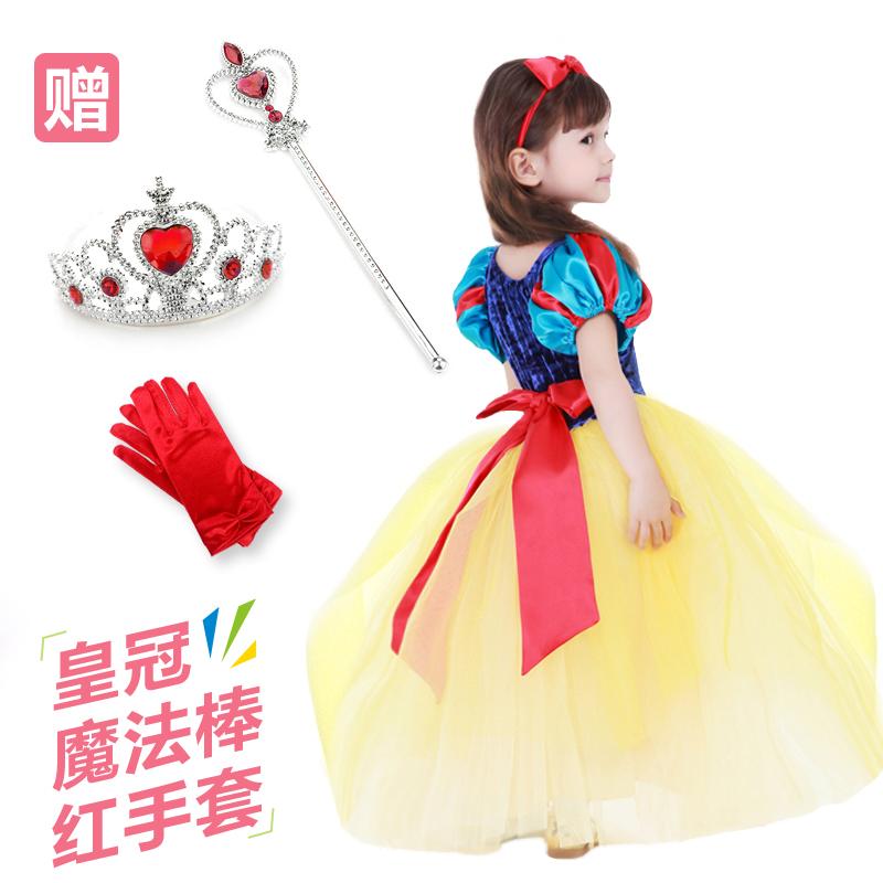 Фиолетово-красный фиолетово-красный сказка белоснежка платье женщин ребенок юбки хэллоуин ребенок одежда производительность одежда платья лето свадьба