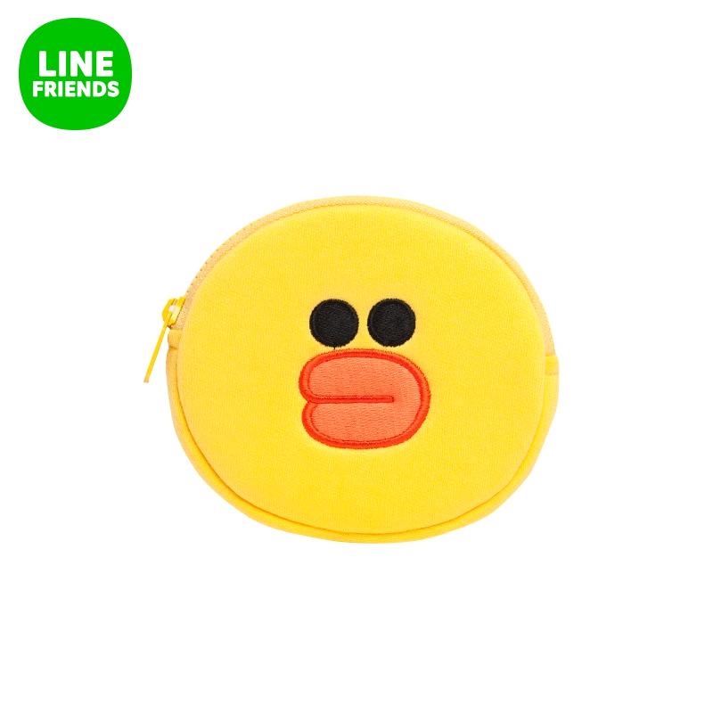 LINE FRIENDS 莎莉^(臉型)零錢包12.5cm 可愛呆萌卡通