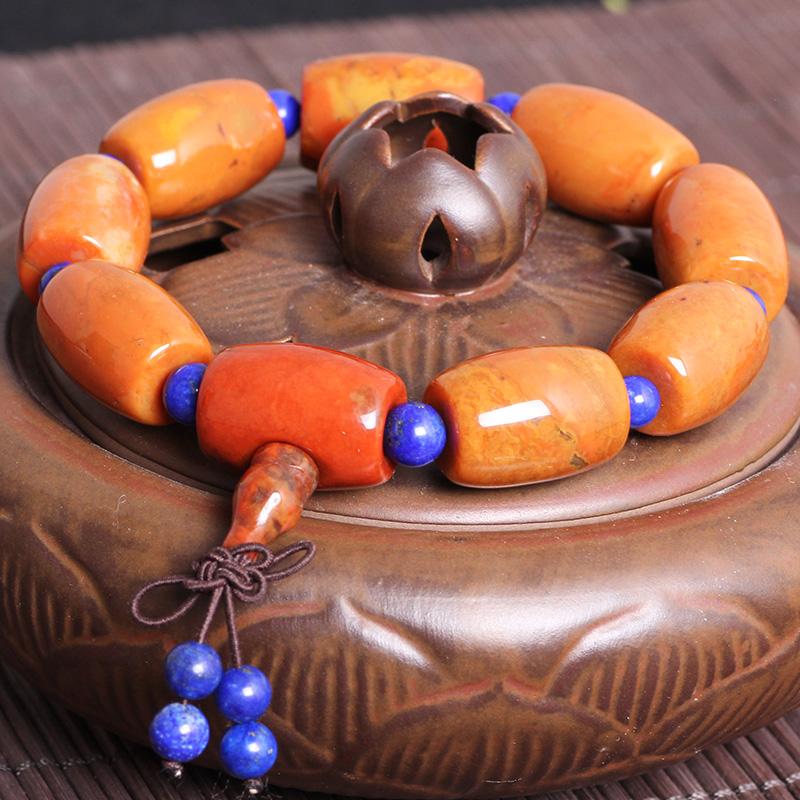 战国红玛瑙桶珠手链天然佛珠男士女款精品同料手串佛珠手串吉祥物