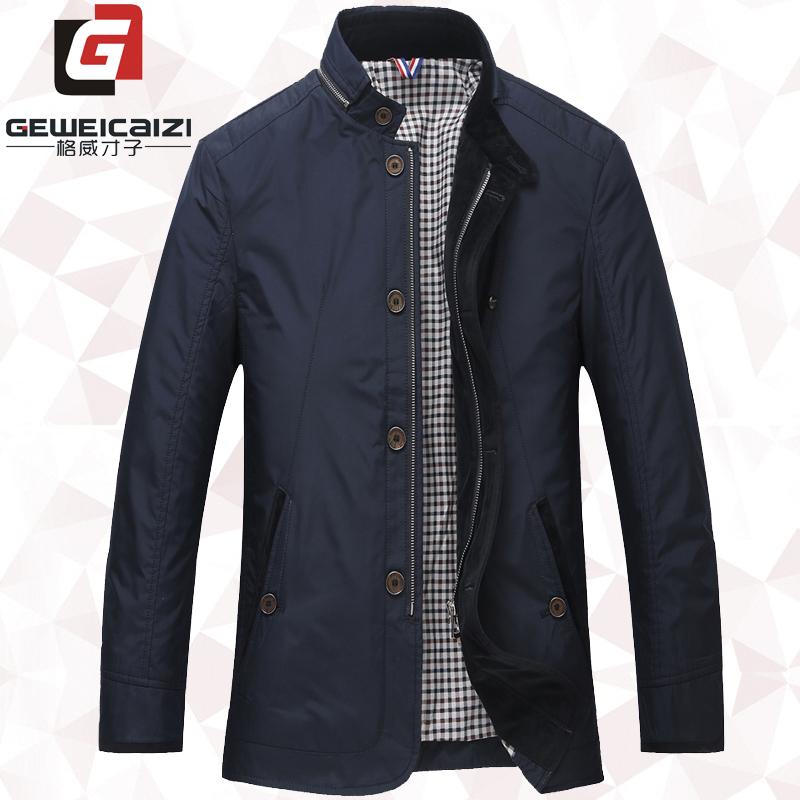 Segway Вит тонкий воротник мужской куртки мужчины весна осень среднего куртки мужчины рубашка шерсть папа навесные бум