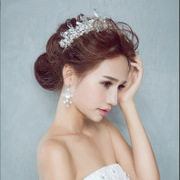 Shi Huanqi H122 new Korean bride makeup styling Studios photography Crystal hand-Crown Baroque ornaments