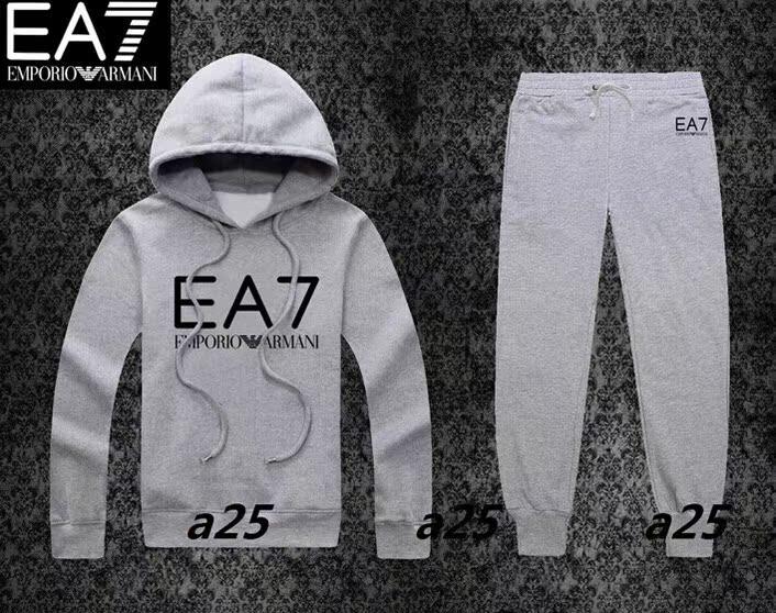 EA7 дамы модные пуловеры с капюшоном спортивная одежда Весна и осень женщин мода хлопка свитер штаны костюм