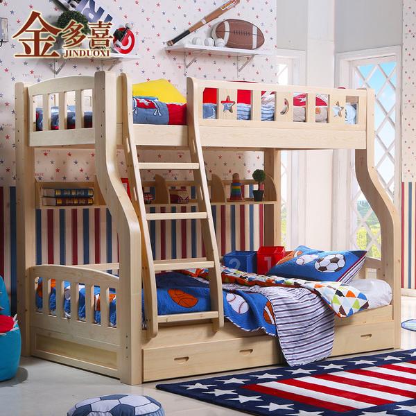 金多喜 实木 儿童床 上下铺 高低床 上下床 子母床 双层床 母子床