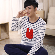 The spring and autumn period and the summer pajamas male long-sleeved pants cartoon teenagers men leisure wear cotton lovely children men's suits