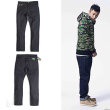 Shawn yue demonstration male trousers spring and summer new simian Dan NingHu CMSS joint red ear grain color denim trousers
