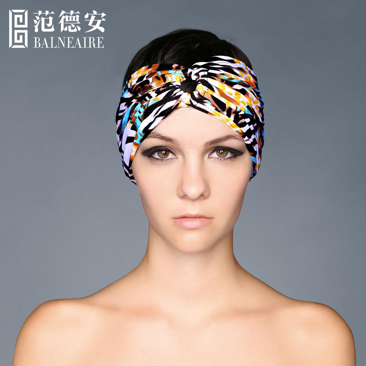 範德安簡約甜美遊泳發帶 寬邊 頭箍發束海邊度假 頭飾