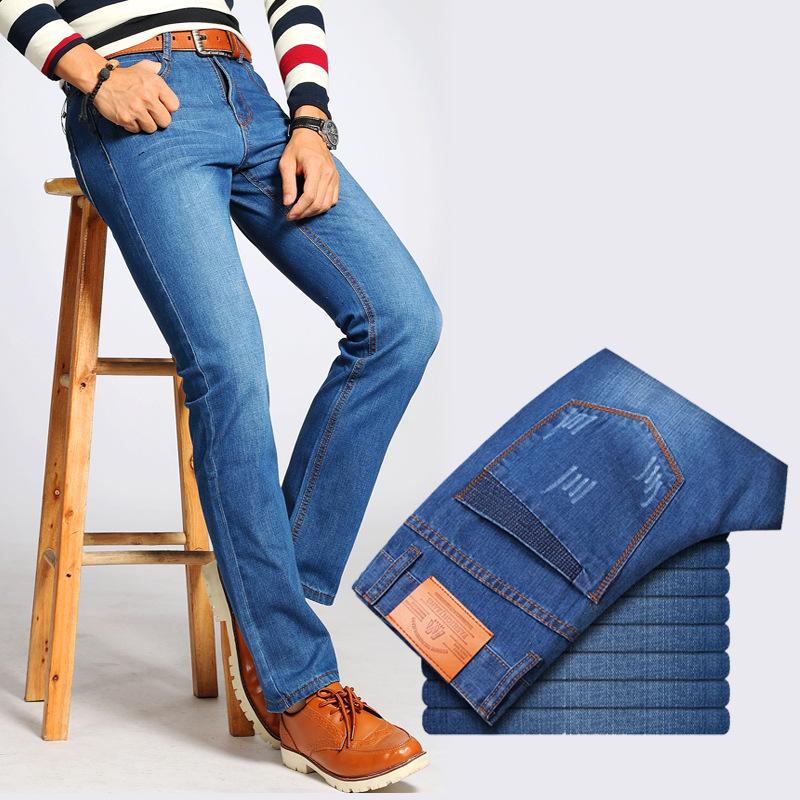 2017 品牛仔褲男士青少年學生 長褲子薄款直筒寬鬆潮