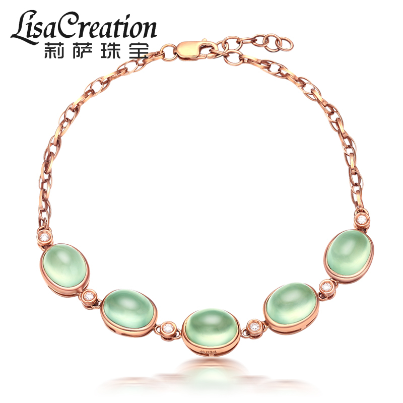 Lisa jewelry 12.75 carat natural grape Stone Bracelet 18K Rose Gold Diamond Color gem jewelry for women