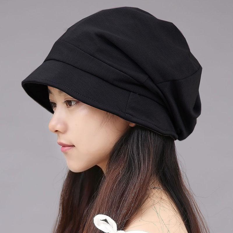 韩版潮秋冬大头围显脸小光头月子帽