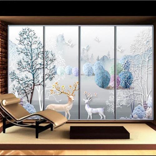 酒吧橱窗彩色玻璃半透明贴膜 婚庆玄关镜子不透明玻璃窗花贴纸