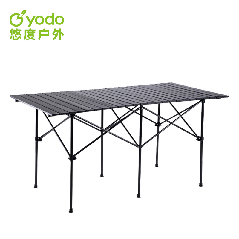 Неторопливый степень на открытом воздухе складные обеденный стол портативный алюминиевых сплавов стол качели стенд длинные столы статья стол на открытом воздухе качели стенд конференция обеденный стол
