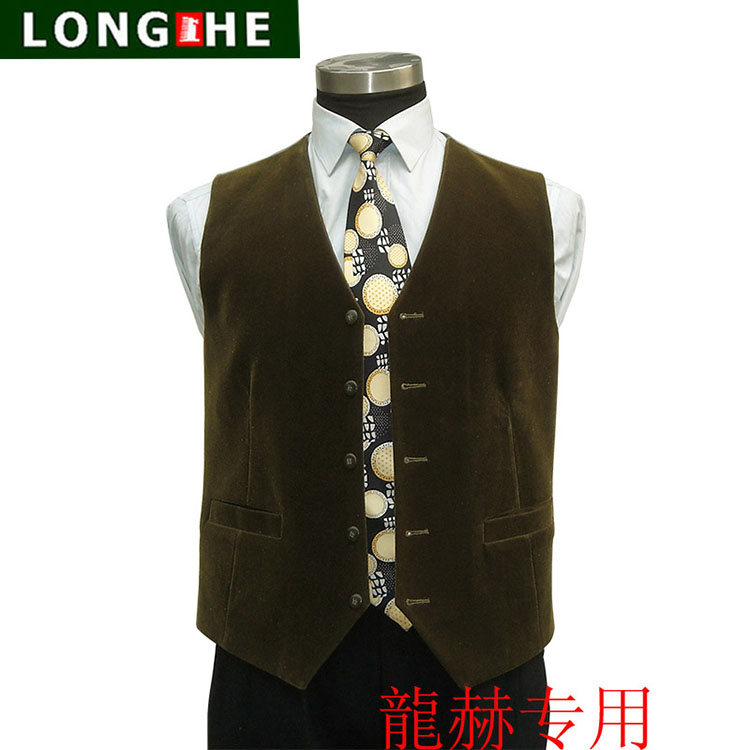 Longhe brand mens professional business formal jacket office vest suit jacket thick material broken code package