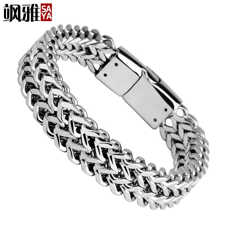 鈦鋼男士手鏈 定製多層 潮男 簡約飾品配飾手鏈手環