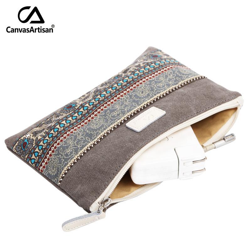 Ethnic style zero wallet mobile phone bag womens change BAG canvas bag retro key mobile phone bag coin bag storage bag