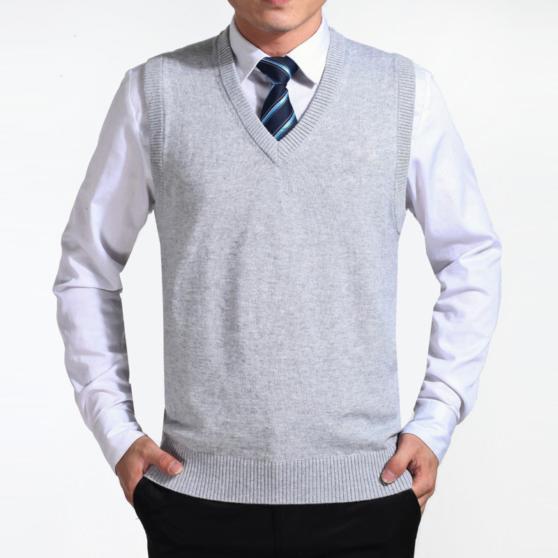 2021 new sweater vest mens sweater coat knitted vest business mens leisure spring and autumn fashion mens wear
