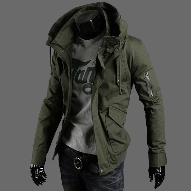 軍綠色男士 薄款夾克