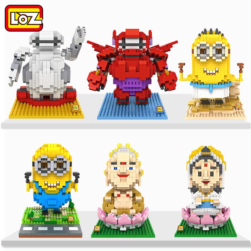 LOZ ли Чжи микро грануле Подключите алмаз, здание игрушки Великий Бодхисаттва Майтрейя, маленький желтый парень LEGO головоломки