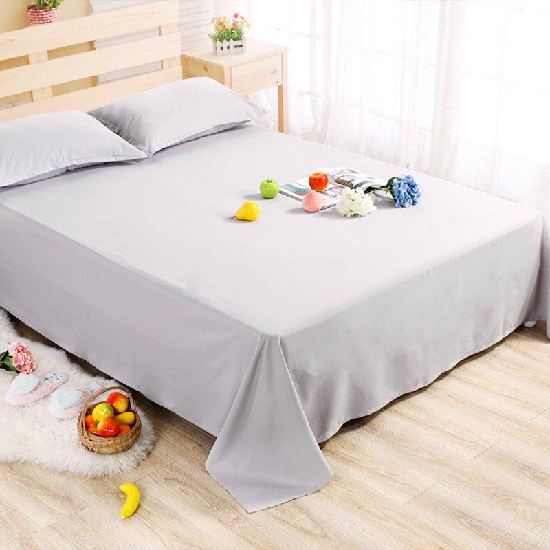 秋 保暖床單單件學生宿舍床單1.2m床純色磨毛被單床罩單人床單
