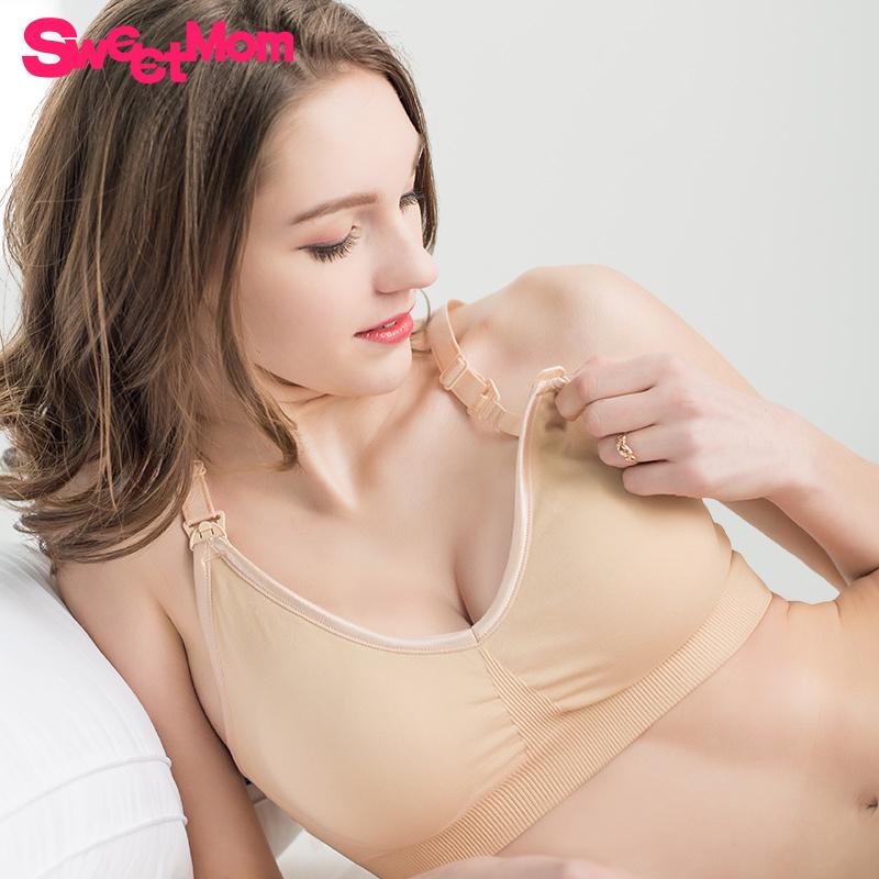 孕妇内衣胸罩怀孕期聚拢防下垂上托无钢圈大罩杯产后喂奶哺乳文胸