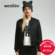 Simple neutral Chao Westlink/West New 2015 winter casual street ladies ' jacket baseball uniform