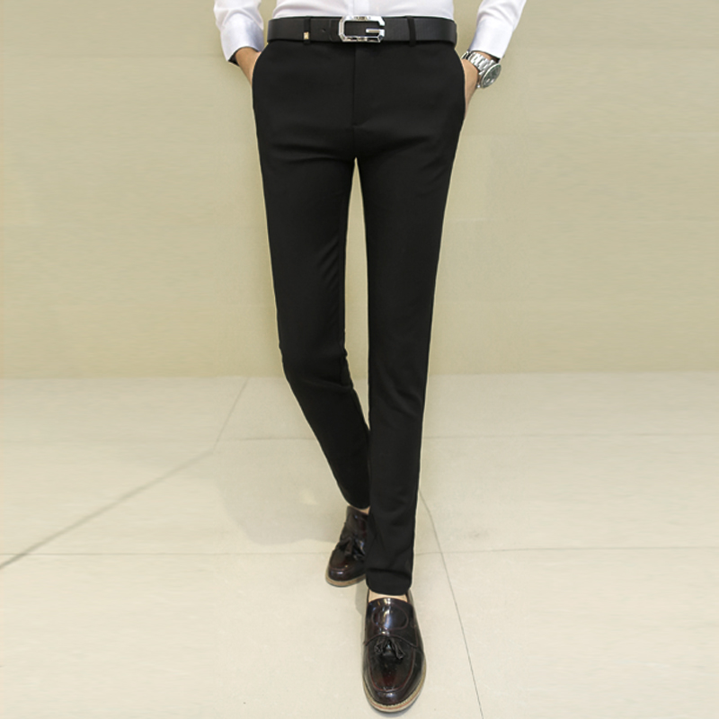Мужской слим типа брюки лето молодежь костюм брюки корейский англия случайный ноги костюм брюки эластичность брюки сын