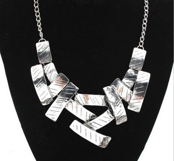 几何方块项链 short Necklace women jewelry бижутерия