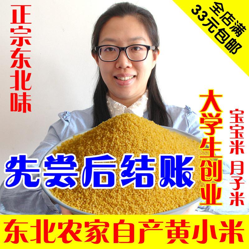 东北杂粮农家小米新米 黄小米孕妇宝宝吃的小黄米粥月子米250g