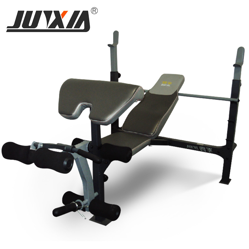 Junxia was lying and JX-191 multifunction weightlifting bed fitness equipment and rack-bedroom home bedroom and barbells genuine bed