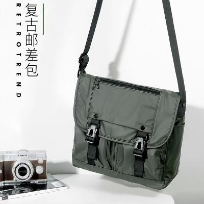 Messenger Bag mens horizontal shoulder bag large capacity Leisure Canvas Bag postman bag fashionable retro mens backpack.