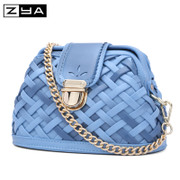 ZYA new knitting bag female bag 2015 autumn rhombic bag retro latch bag slung chain bag