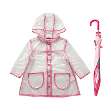Foreign trade children's clothes transparent coat wind raincoat WT007 prevention of the girls