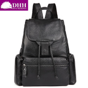 DHH Europe and the trend of the new leather handbags backpacks women's shoulder bag outdoor leisure sports bags cow leather bag