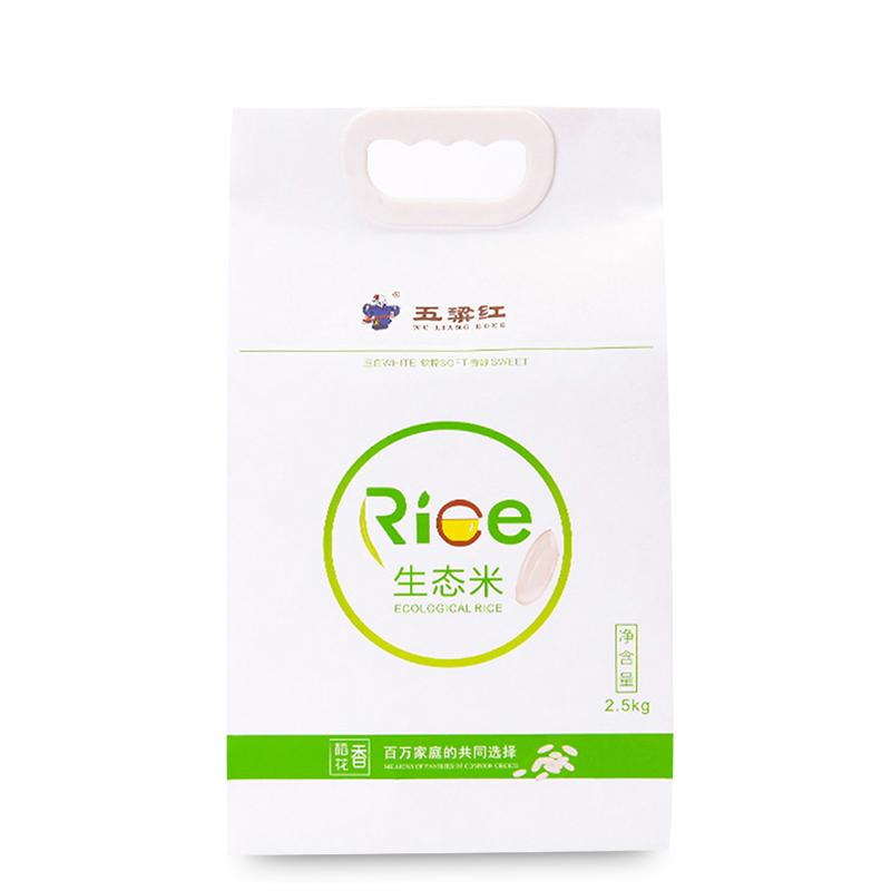 ~天貓超市~五粱紅 稻花香生態米2.5KG 五常大米 新米 白生態