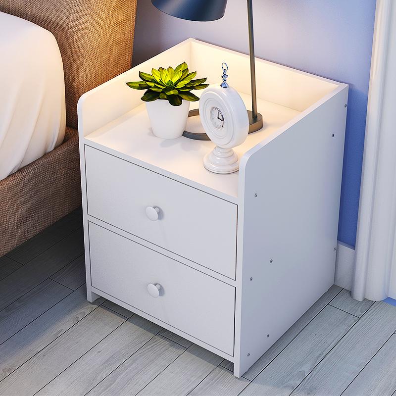 簡易床頭櫃簡約 床櫃 收納小櫃子白色儲物櫃宿舍臥室床邊櫃