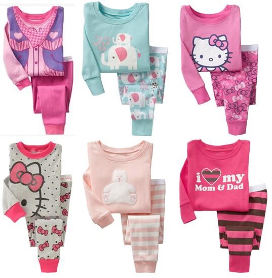 2015 осень внешней торговли Детская одежда ребенка девушки в детской пижамы дома одежда хлопка ребенка с длинным рукавом нижнее белье костюм