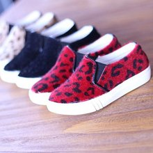 Han edition horsehair leopard grain spring 2015 new private single baby shoes leisure XieEr 'shoes with flat shoes children's shoes
