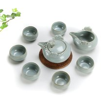 Authentic your kiln ceramic kung fu tea set to open the slice your porcelain tea set eight head of a complete set of gift set high-grade tea set