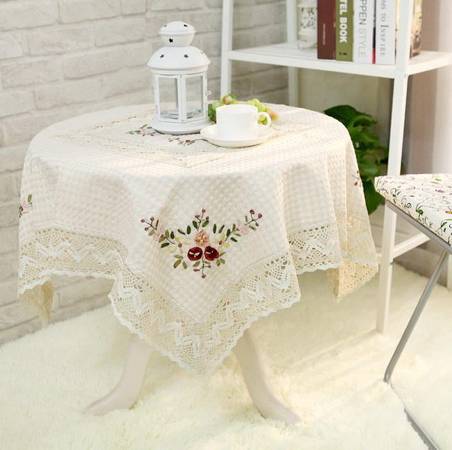 Оригинальный сингл экспорт в европе прекрасный лента вышивать кружева льняная ткань скатерть / обложка тканевая / пылезащитный чехол / полотенце / скатерть