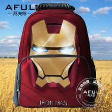 Iron man is 2015 students the avengers alliance bag bag package decompression characters of primary and middle school students personality