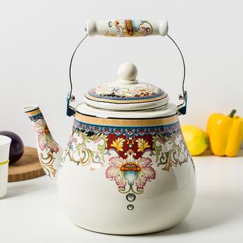 5l加厚搪瓷壶泡茶壶凉水壶燃气茶壶