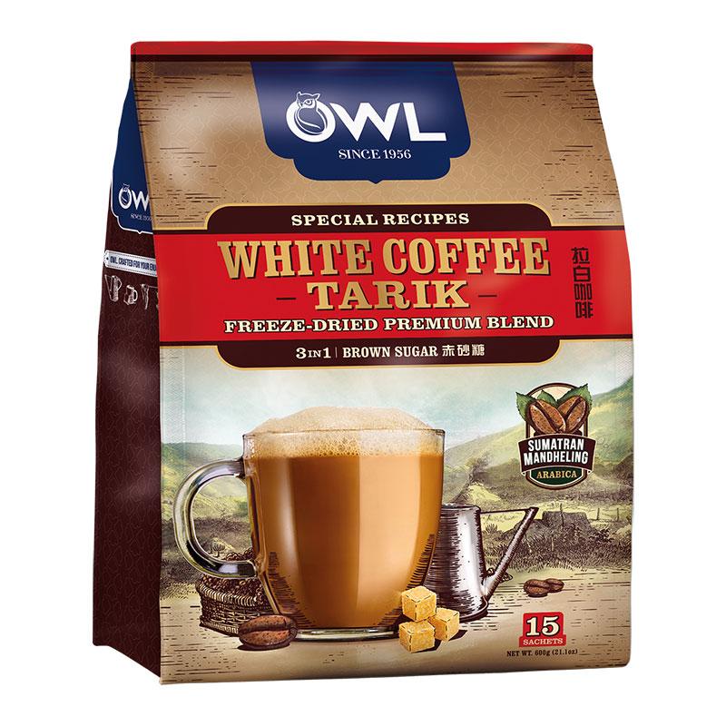 ~天貓超市~越南 OWL貓頭鷹三合一拉白速溶咖啡600g黃糖味
