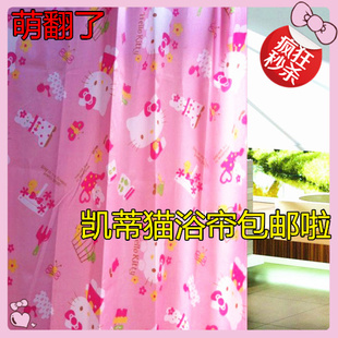 hello kitty Hello Kitty shower curtain thick waterproof polyester shower curtain mildew shower curtain cute
