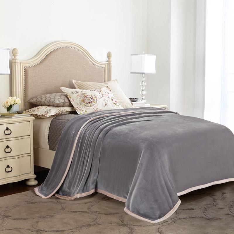 法蘭絨毛毯 辦公室單人被薄蓋毯 珊瑚絨雙人床單 雙層加厚毯子