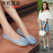 Tilly crisp autumn leather foot hole breathable light comfortable handmade mother pregnant flat-bottomed skid shoes