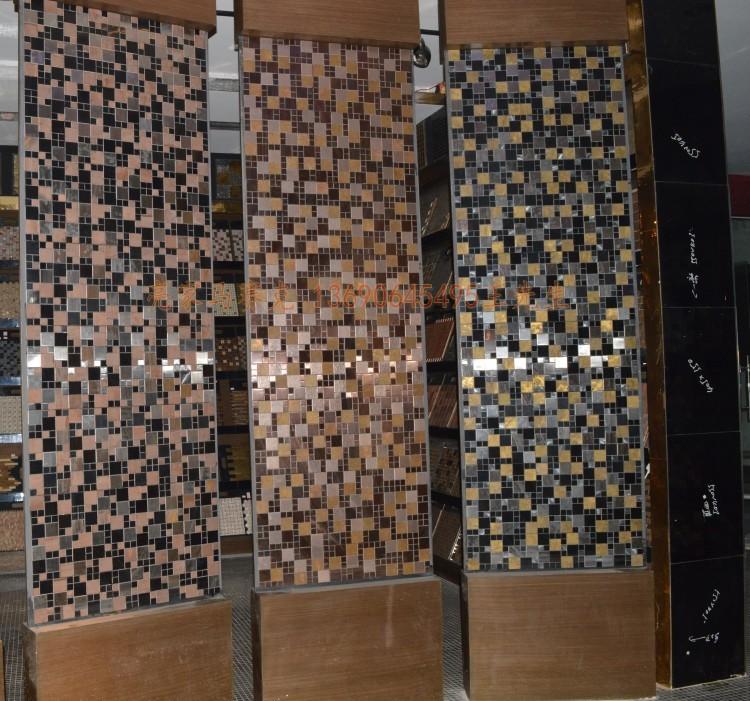 欧式金属马赛克古铜拼花背景内墙贴