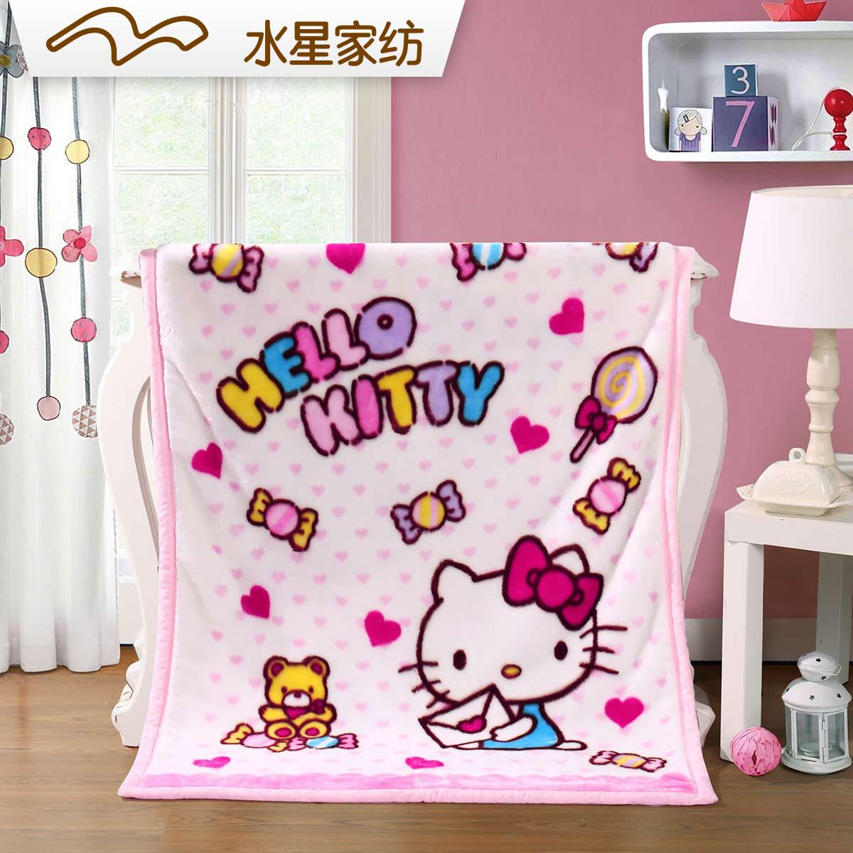 Вода звезда домой спин мультфильм порошок цветной многофункциональный одеяла сладкий питать питать тянуть дом ваш одеяло hellokitty hello kitty